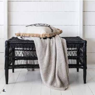 Malawi Open Weave Rectangle Bench/Coffee Table