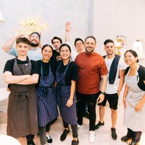 yolk staff at grand opening